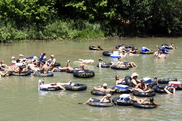 Tubing on the Guadalupe River in New Braunfels
